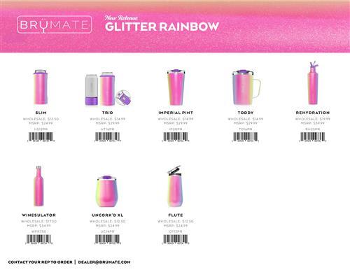 BruMate Rainbow Glitter
